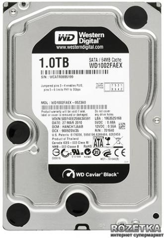 Daiktas Hdd 1tb western digital black 64mb cache