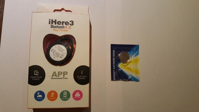 Daiktas Ihere3 Bluetooth 4.0 Key Finder
